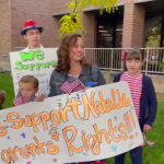 AIM joins the Utahns Against Common Core Rally at the Utah State Board